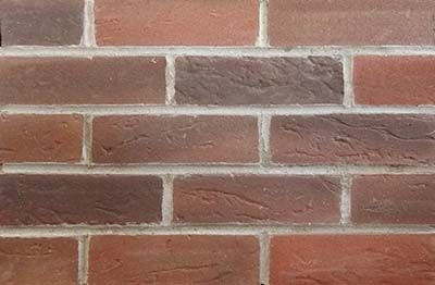 Old red tones brick